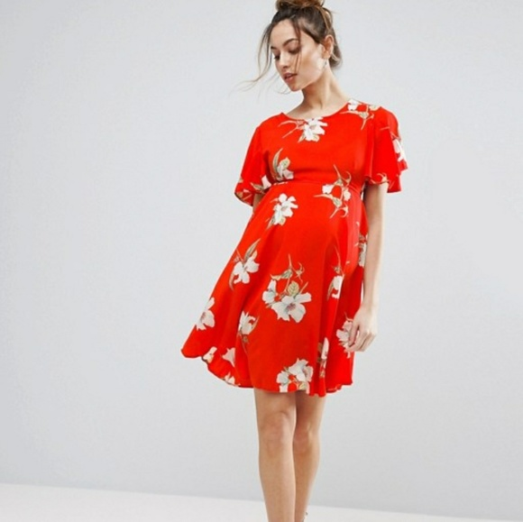 6f20b6d06ce5f Queen Bee Maternity Dresses | Asos Floral Tea Dress | Poshmark